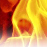 Photograph of flames.